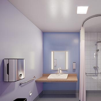Salle de bain de patient